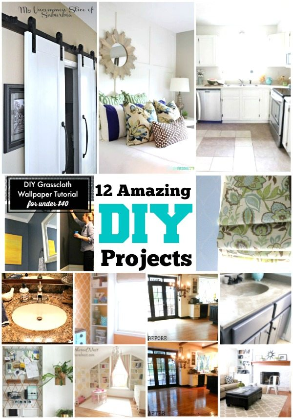 Create the home you love on a budget with these amazing DIY projects that you can do from DIY Housewives
