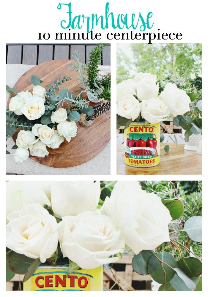 Farmhouse 10 minute centerpiece idea - fun and fabulous - great for a casual party or everyday from Refresh Restyle