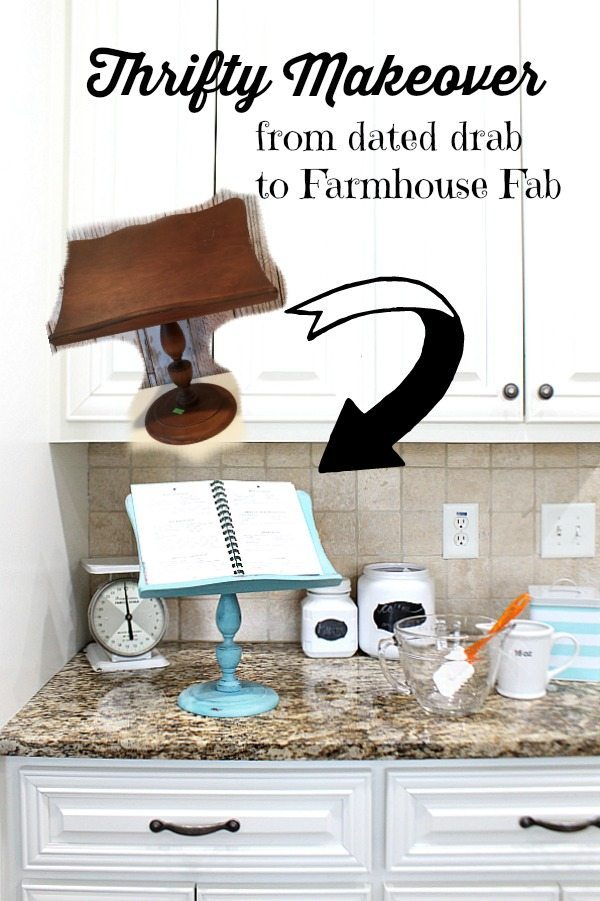 Farmhouse Ipad - Recipe book holder thrifty makeover