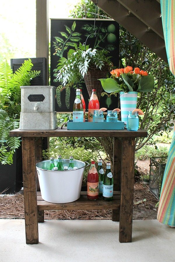 Galvanized drink dispenser and more ideas Outdoor Entertaining Easy and Affordable at Refresh Restyle