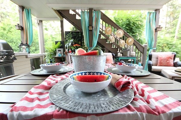 No sew outdoor curtains and Outdoor Entertaining Easy and Affordable at Refresh Restyle