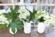 Make your own Milk Glass - use free mason jars and Valspar Milk Glass Paint details at RefreshRestyle.com