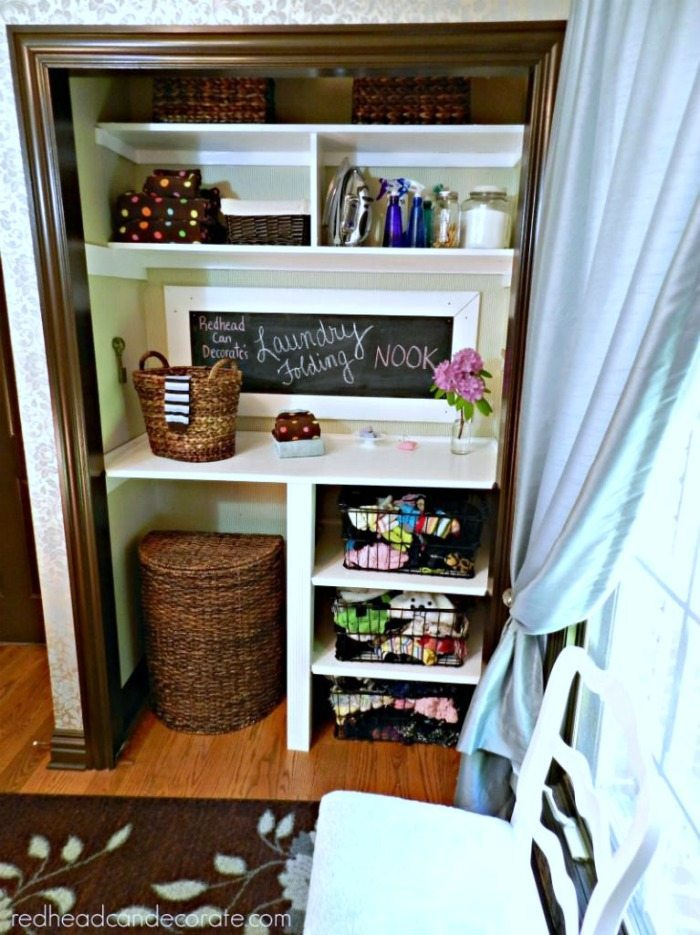 Red Head Can Decorate Cute-Closet-Folding-Nook