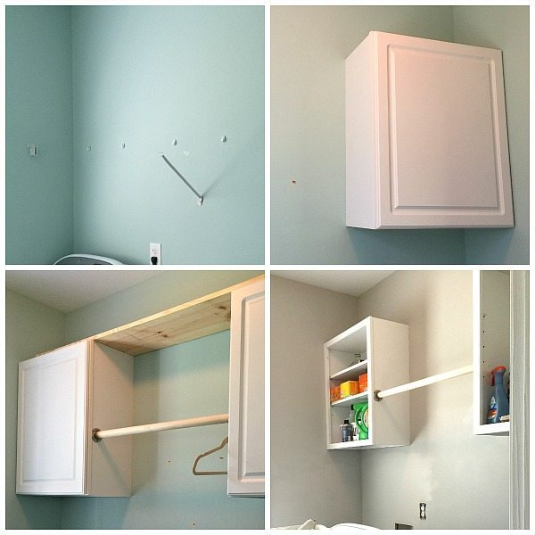 Removing wire shelves - painting - adding cabinets at Refresh Restyle