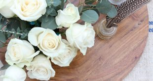 Roses in farmhouse fresh arrangement at Refresh Refresh