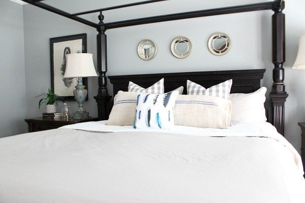 Casual styled master bedroom perfect for everyday living at refreshrestyle.com