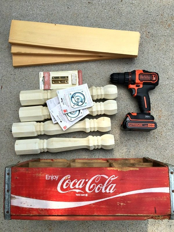 Coca Cola create repurposed - how to make a side table at RefreshRestyle.com