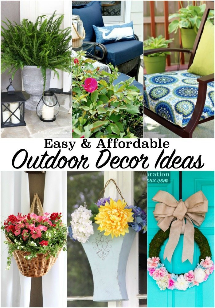 Easy and affordable outdoor decor ideas - create and outdoor space that you will love at refreshrestyle.com