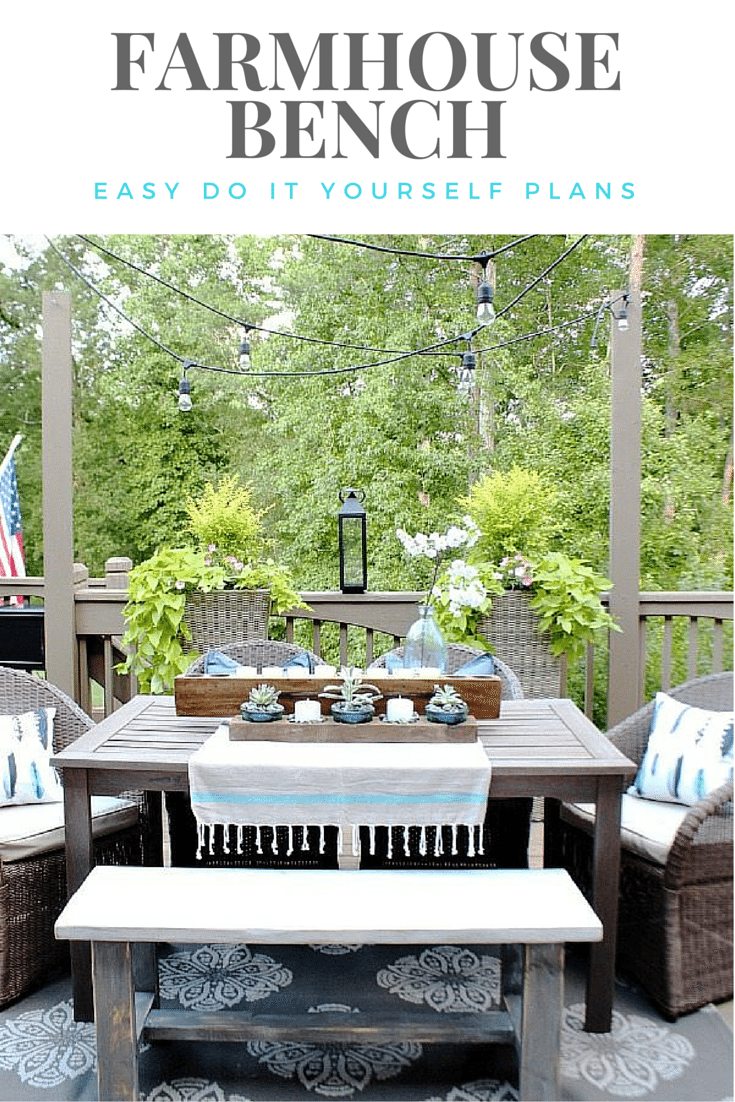 Farmhouse Bench - easy DIY plans to make one yourself