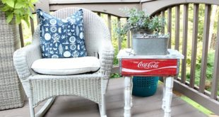 Great idea - Easy DIY Coca Cola crate side table more info at RefreshRestyle.com