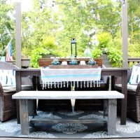 Make it - Farmhouse Bench - easy DIY instructions included at RefreshRestyle.com