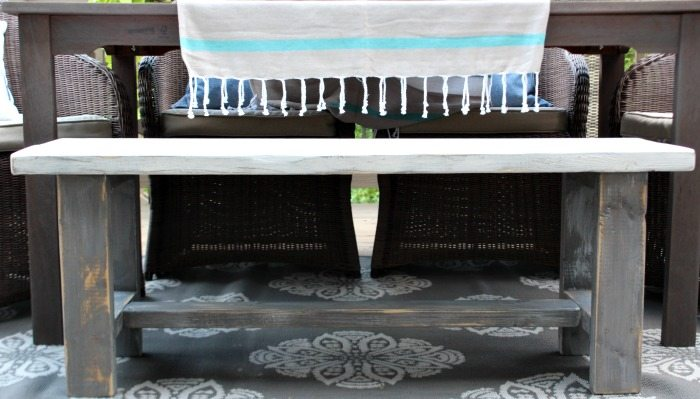 Simple build - Farmhouse Bench - easy DIY instructions included at RefreshRestyle.com