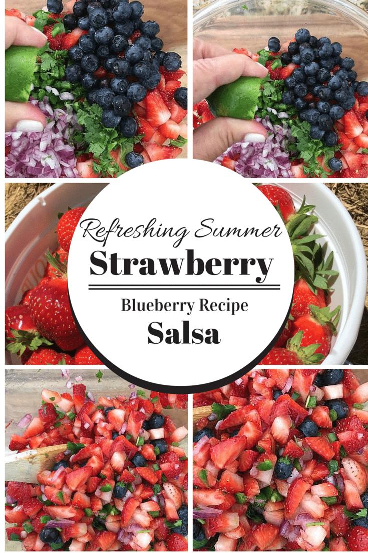 Strawberry Blueberry Refreshing Summer Salsa