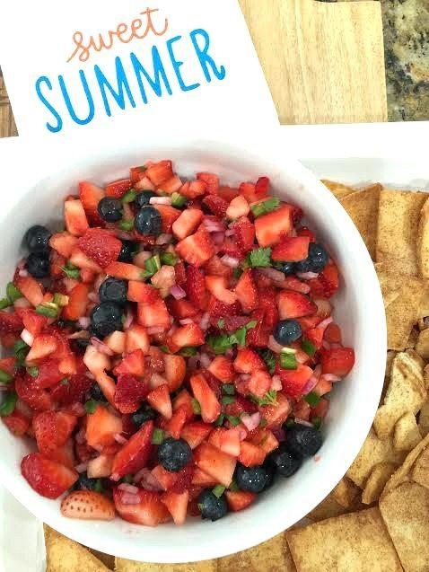 refreshing strawberry blueberry salsa recipe