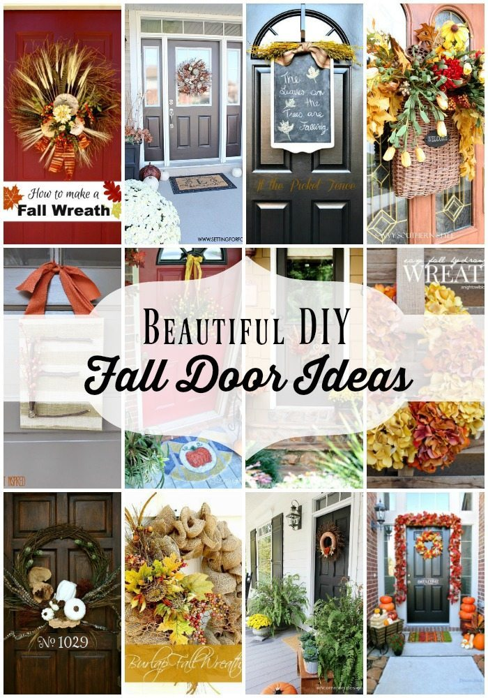 beautiful diy fall door decorations at refresh restyle - Fall Door Decorations