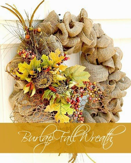 Burlap Wreath from Duke Manor Farm