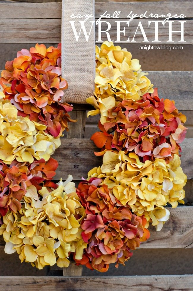 Fall Hydrangea Wreath from A Night Owl Blog