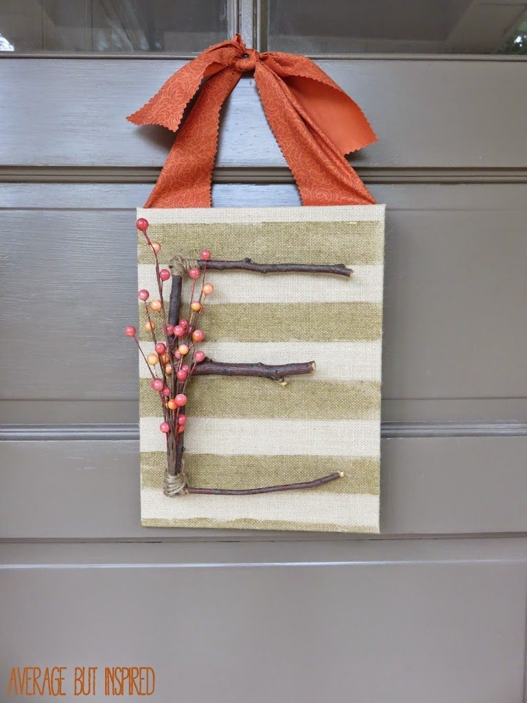 Twigs and Berries Fall Door Decor from Average Inspired