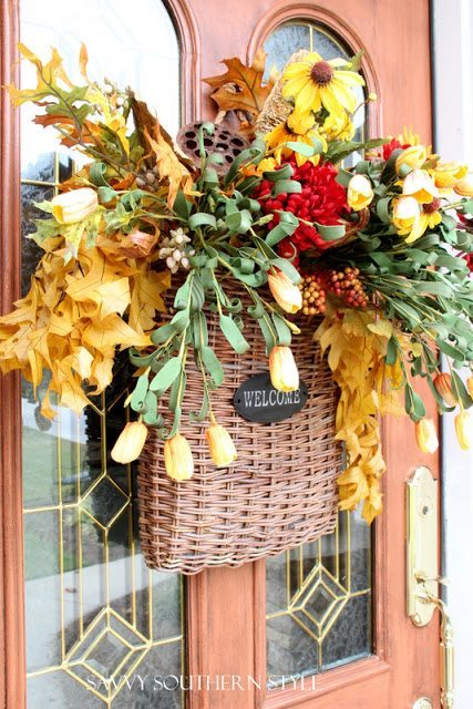 Welcome Fall Wreath from Savvy Southern Style