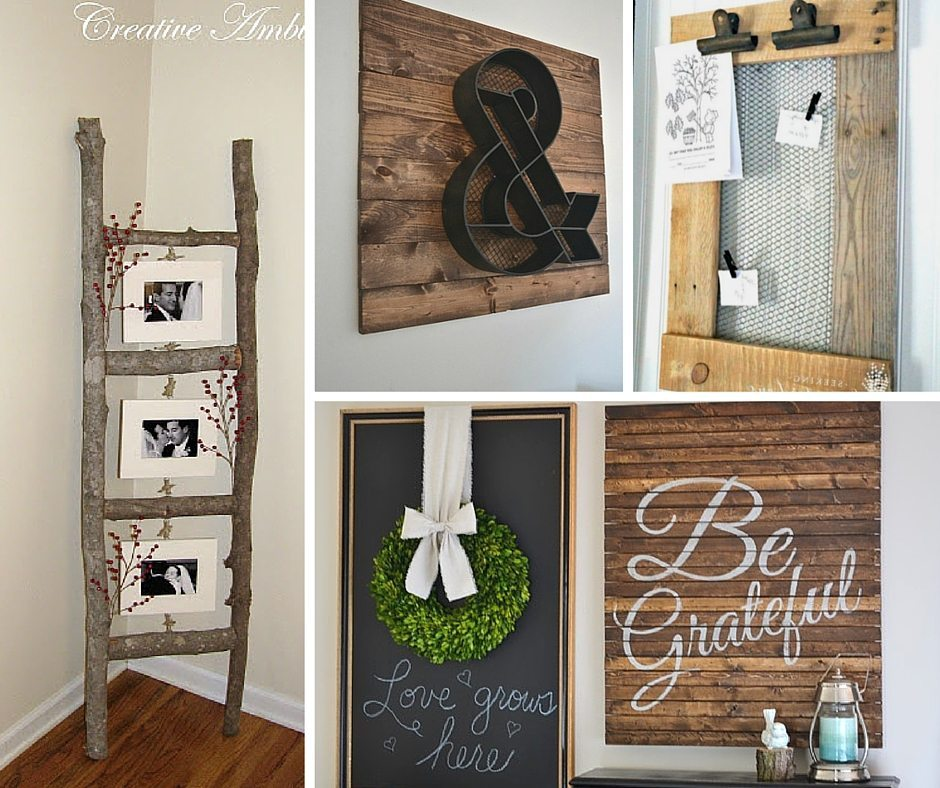 Simple Home Art Decor Ideas: 31 Rustic DIY Home Decor Projects