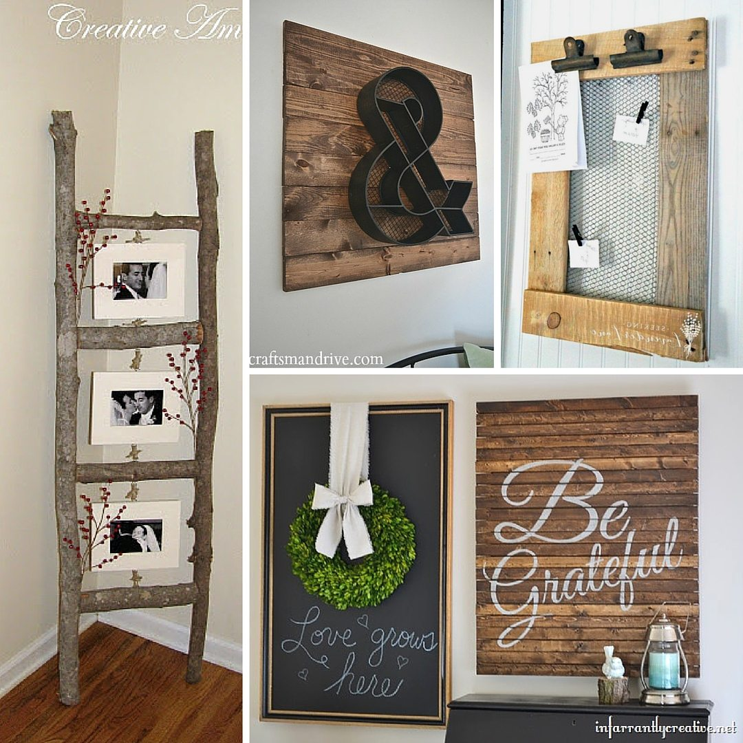31 rustic diy home decor projects refresh restyle - Decoration mural design ...