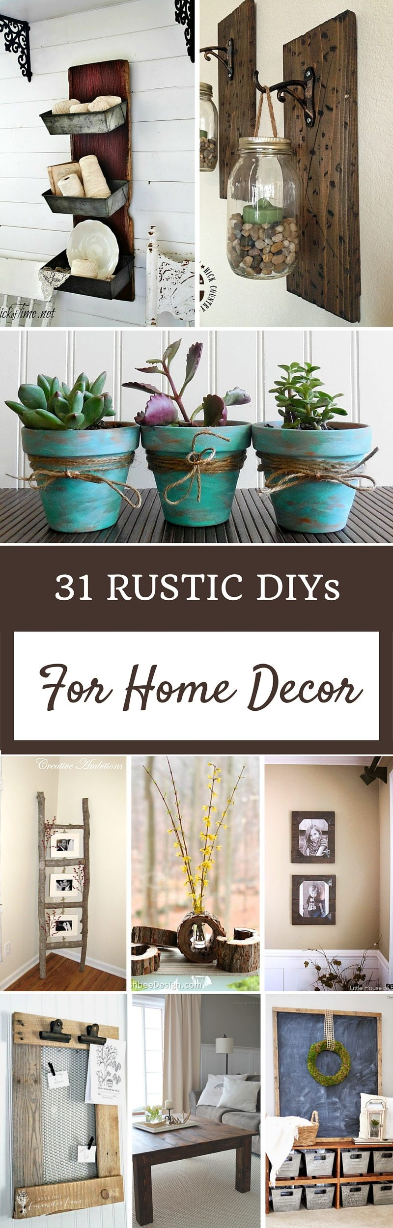 Rustic home decor ideas refresh restyle for Home design ideas handmade