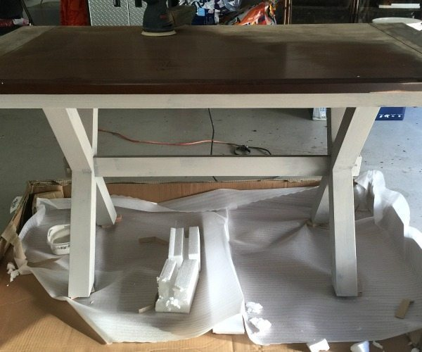 Creating an x-based farmhouse table