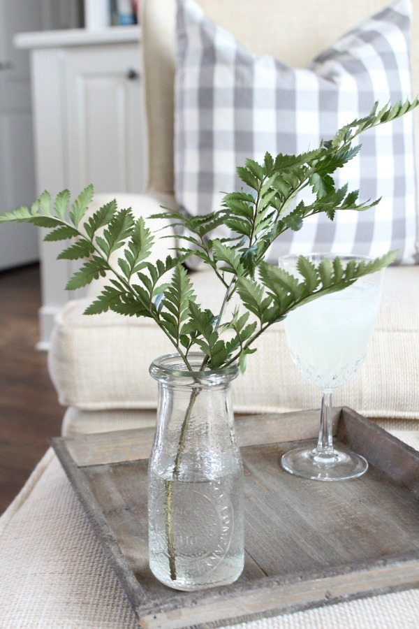 Dollar store jars used as vintage style vase