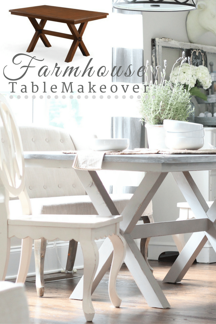 Diy dining table makeover - Farmhouse Table Makeover Better Homes And Gardens Table Transformed