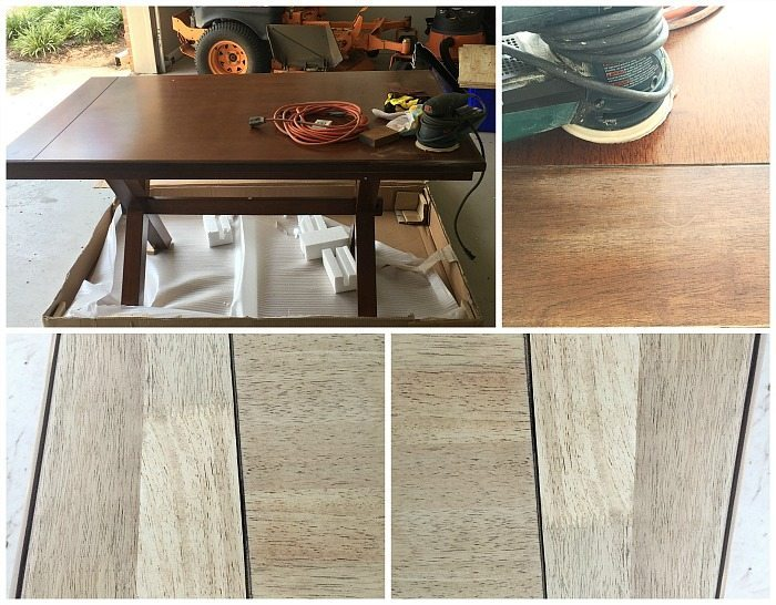 How to create a farm table from a Better Homes and Gardens Maddox Crossing table available at Walmart