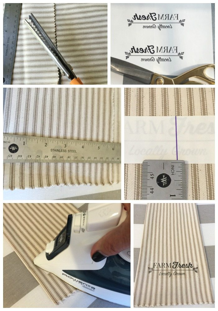 How to make farmhouse napkins with 1 yard of fabric