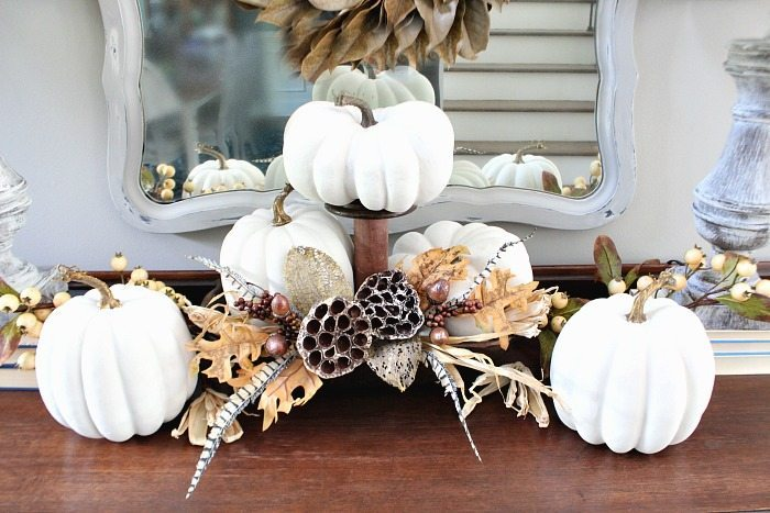 How to paint pumpkins from orange to white for fall at Refresh Restyle