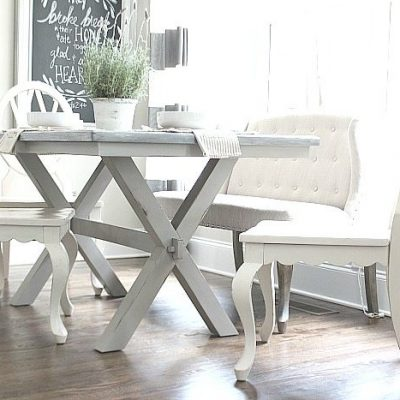 Painted Farmhouse Table X-Base