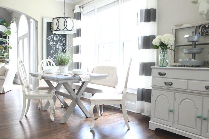 Gray Farmhouse Table Makeover