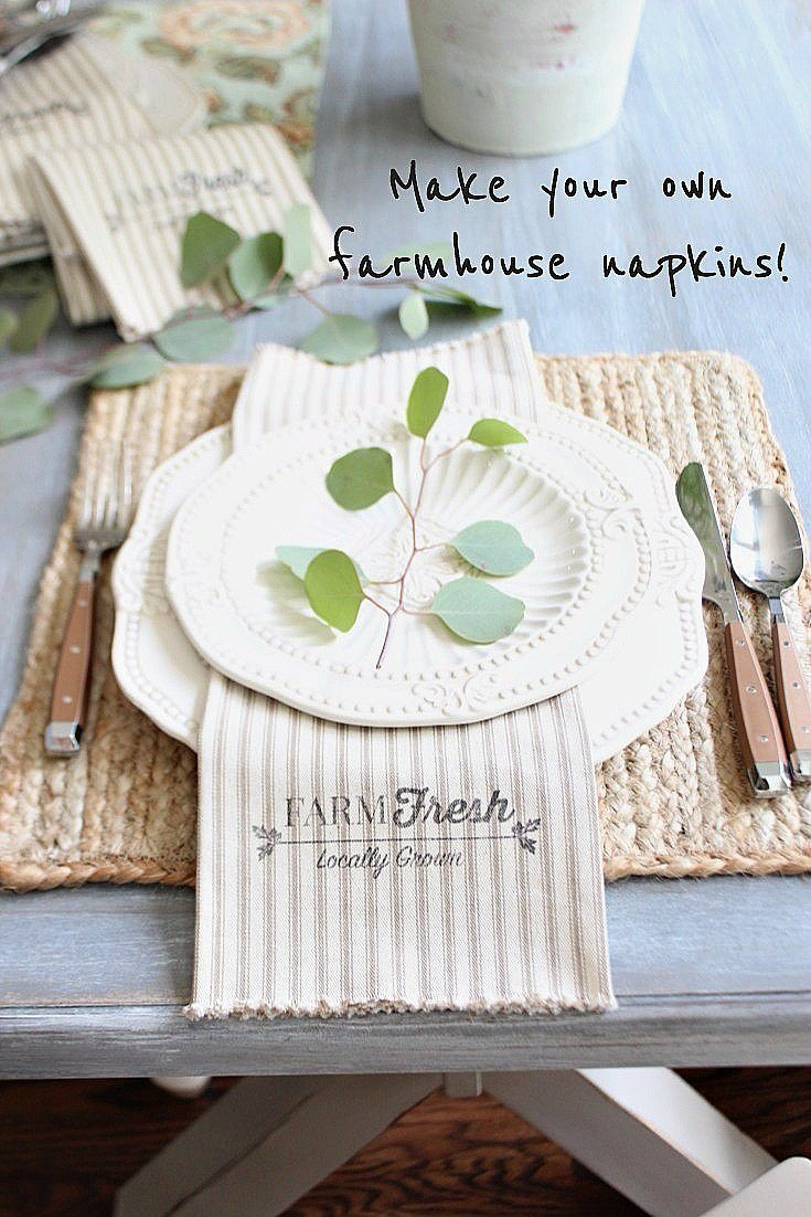 Make your own farmhouse napkins