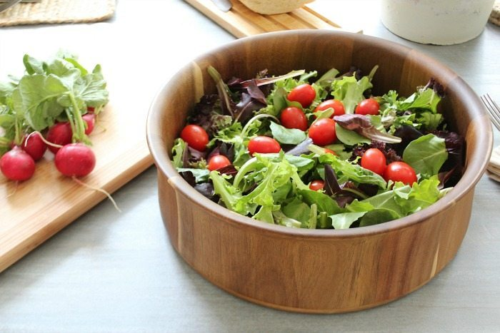 Natural wood salad bowl from Better Homes and Gardens at Walmart