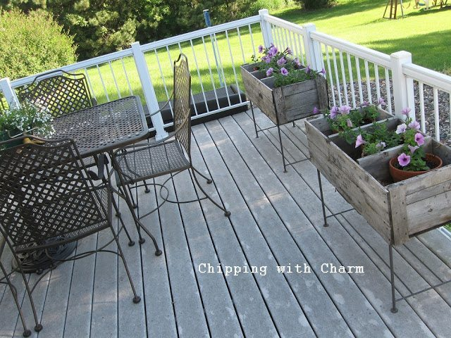Old Crate Planters from Chipping with Charm