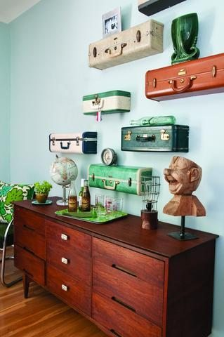Suitcase Shelves DIY from Kinassauer