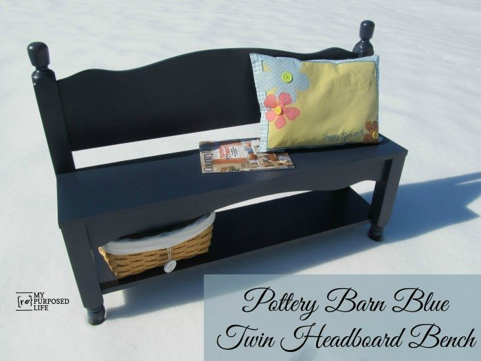 Twin Headboard Bench Storage Shelf from My Repurposed Life