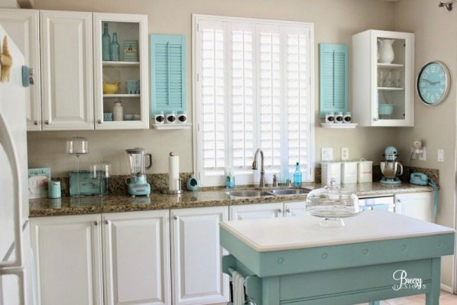 Breezy Designs, Turquoise and Aqua Kitchen Ideas