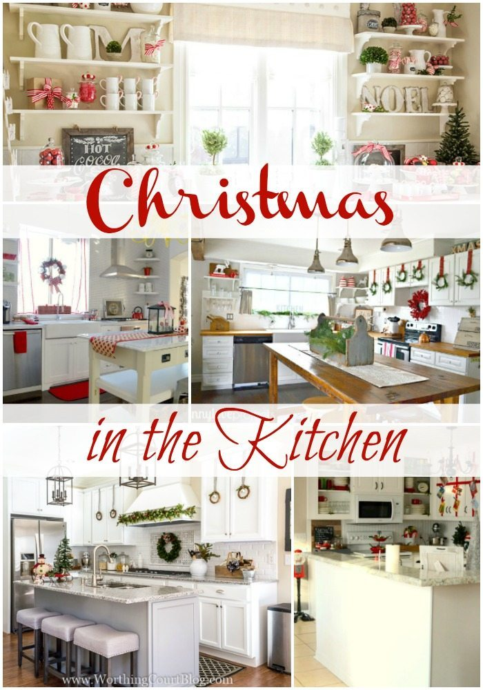Christmas in the kitchen decorating ideas.