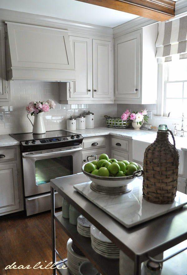 Dear Lillie, Gray Kitchen Ideas