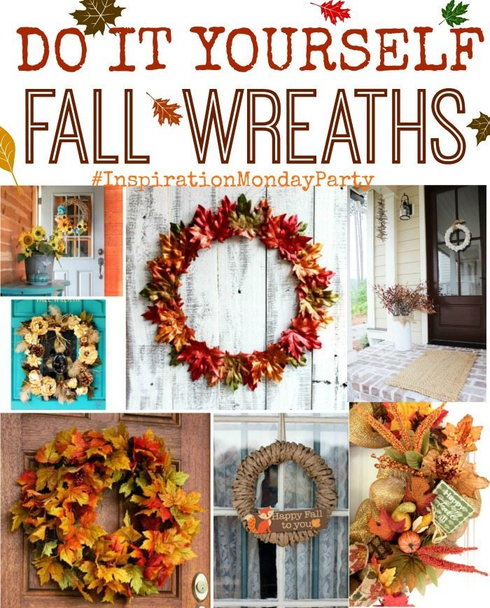 fall wreath ideas inspiration monday refresh restyle. Black Bedroom Furniture Sets. Home Design Ideas
