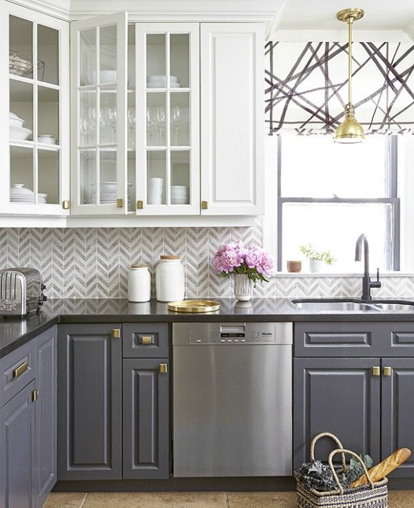 Feasby & Bleeks Design via House and Home, Gray Kitchen Ideas