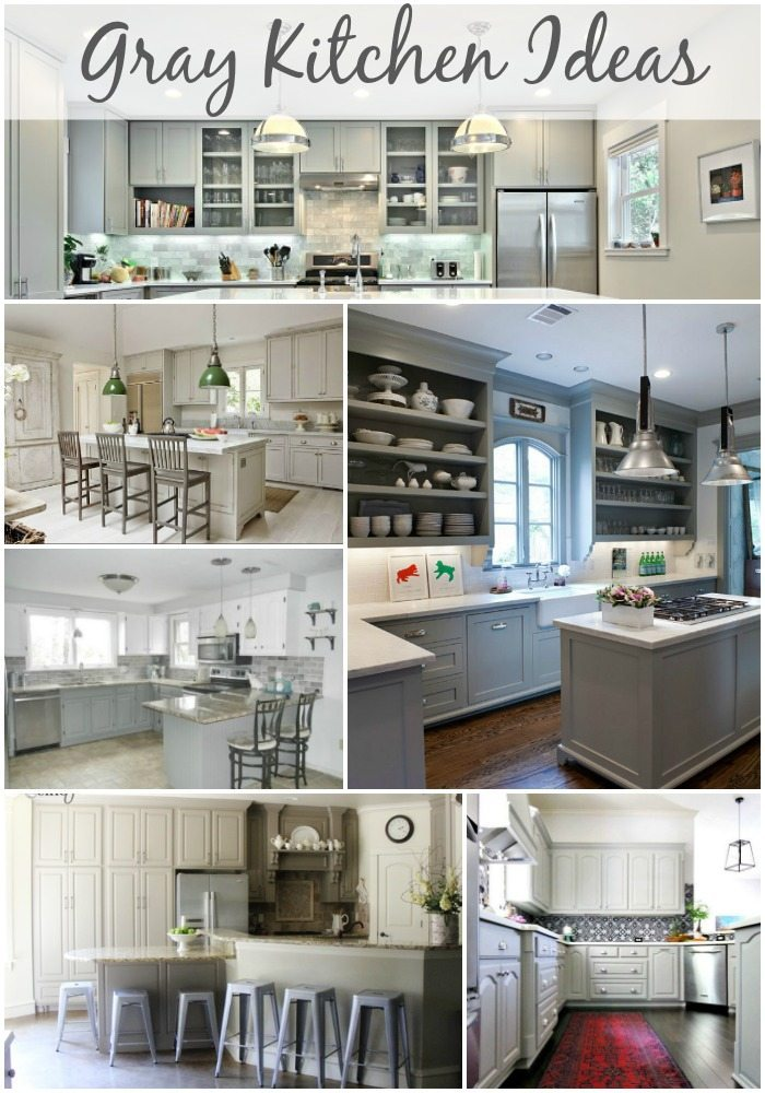 Gray Kitchen Ideas via Refresh Restyle