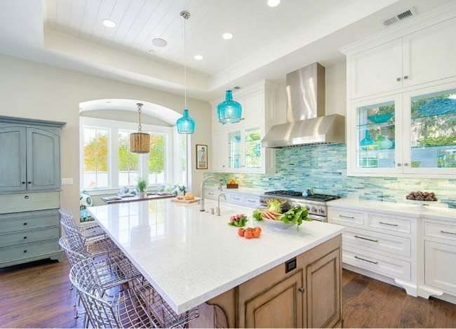 Jennifer Allen Design, Turquoise and Aqua Kitchen Ideas