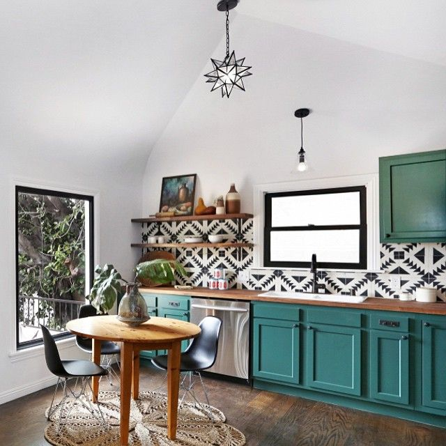 Hunter Keihan, Turquoise and Aqua Kitchen Ideas via Refresh Restyle