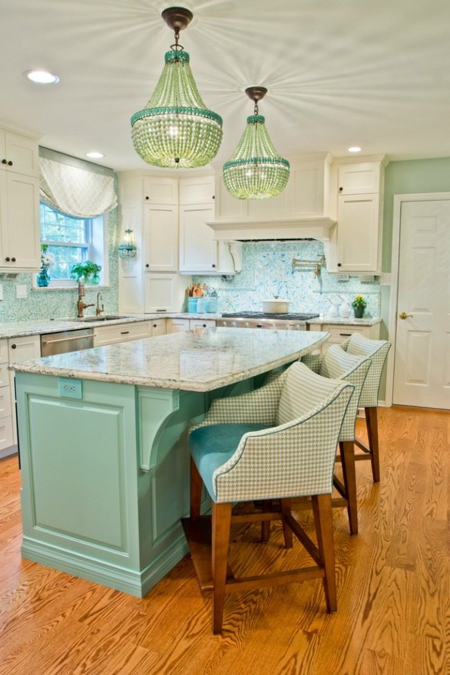 Kevin Thayer Interior Design, Turquoise and Aqua Kitchen Ideas