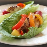 Lettuce wrapped chicken recipe - sweet and spicy