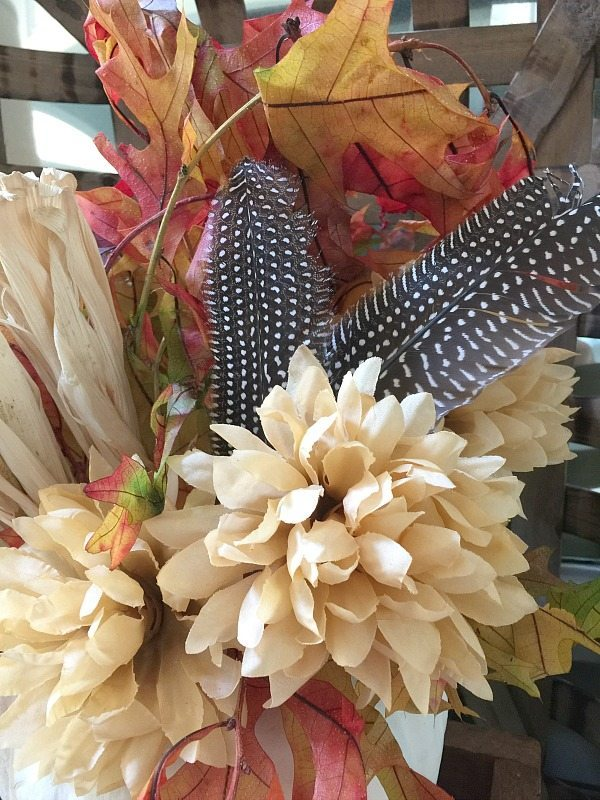 Love adding feathers to fall decor